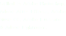 Skilled in Adobe Photoshop, Adobe After Effects, Adobe Muse CC, Adobe Illustrator & Adobe Lightroom.